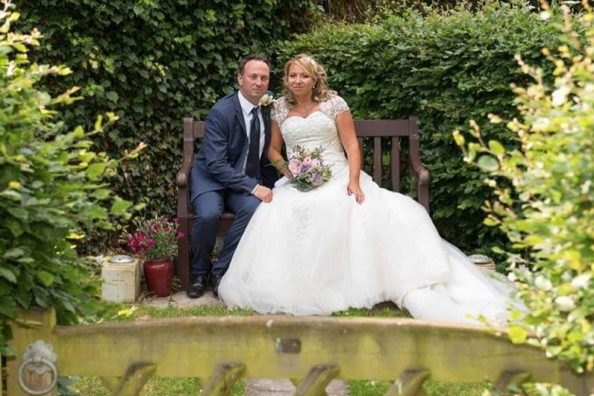 Happy 1st wedding anniversary to Mark and Carly.